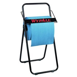 Free-standing WypAll® dispenser with blue, jumbo roll wipes