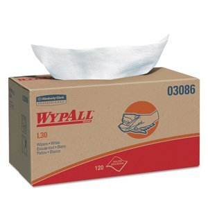 A box of WypAll® L30 wipers on a white background.