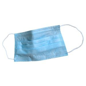 Blue general use face mask with earloops